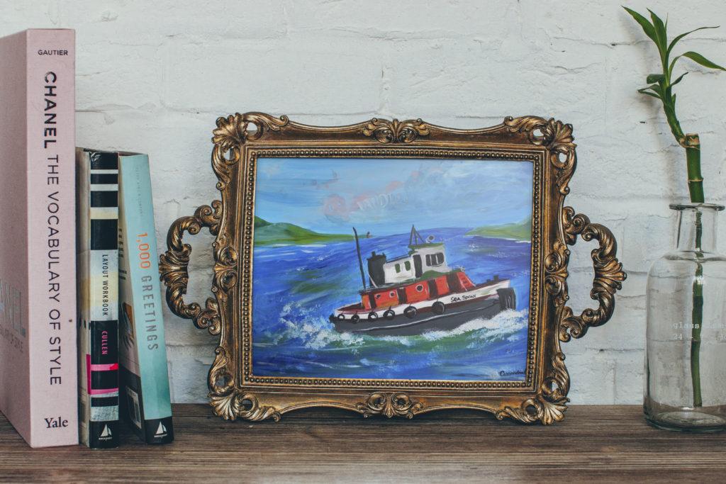 Tug boat painting Cassondra Eastham