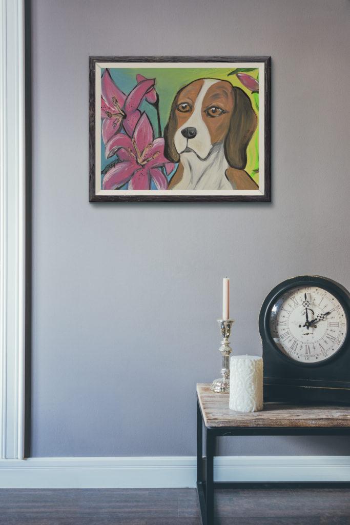 Beagle Painting by Cassondra Eastham