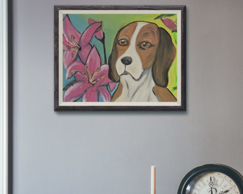 Alyvia's Beagle Painting