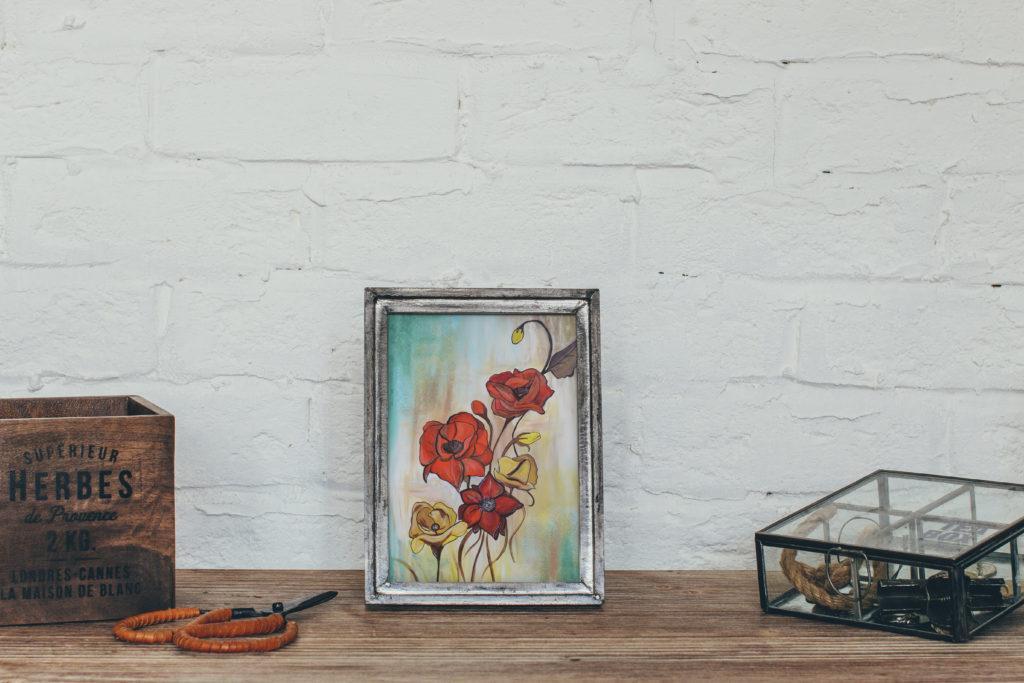 cassondra eastham painting poppies