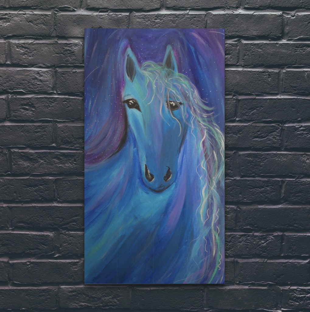 Never Alone horse painting by Cassondra Eastham