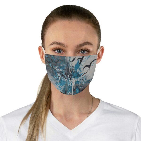 art pint face mask of birds