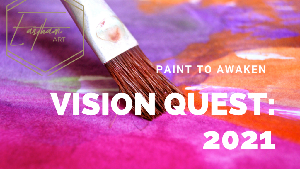 Vision quest painting class by artist Cassondra Eastham