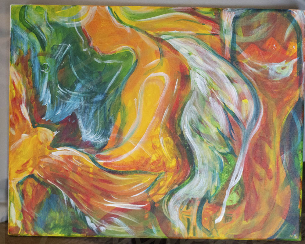 The Phoenix and the Angel painting by Cassondra Eastham Artist