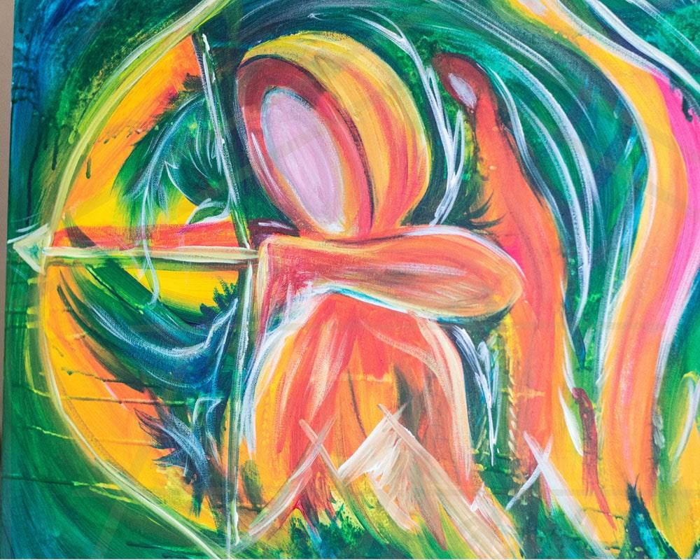 Warrior painting by Cassondra Eastham, artist